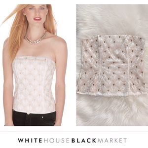 WHBM Beaded & Embroidered Scalloped Bustier
